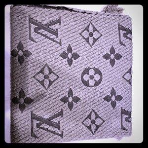 Louis Vuitton Logomania Scarf  (Tan)